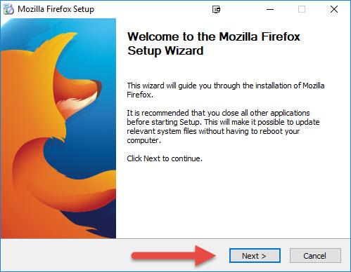 Installing Firefox-ESR 32-bit – Technical Support