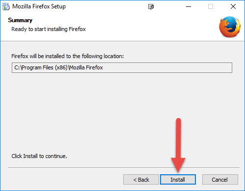 Installing Firefox-ESR 32-bit – Technical Support