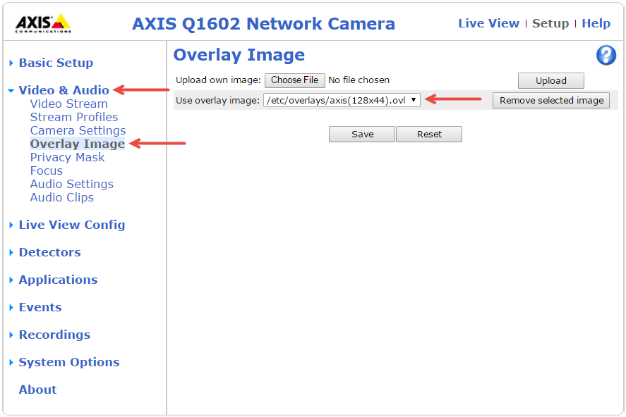 Add Watermark to Axis Camera – Technical Support
